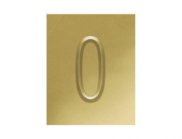 Digito para datador Hot Stamping numero 0 - zero
